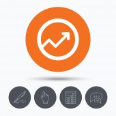 Graph icon. Business analytics chart sign.