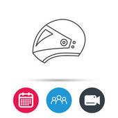 Motorcycle helmet icon Biking sport sign