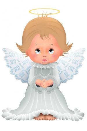 niedliche Baby Engel Figur Bild isoliert