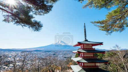 Fuji Mountain with red Pagoda 6