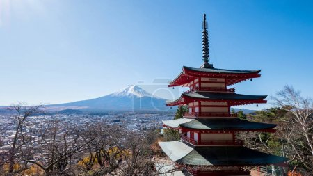 Fuji Mountain with red Pagoda 7