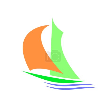 Symbolic image of a sailboa