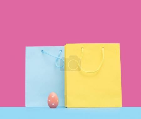 shopping bags and Easter egg