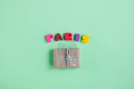 gift and colorful letters
