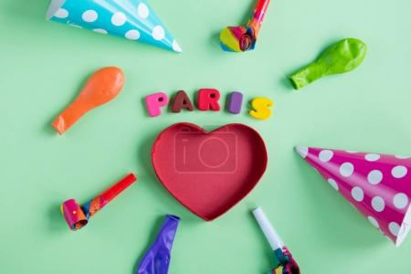 colorful letters and birthday decorations