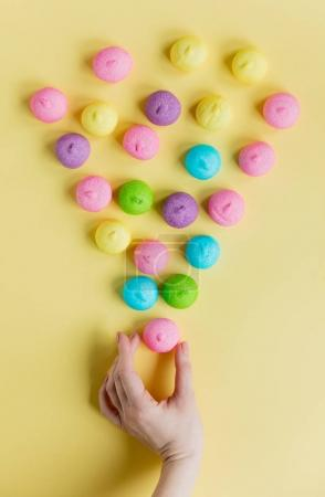 tasty colorful marshmallows