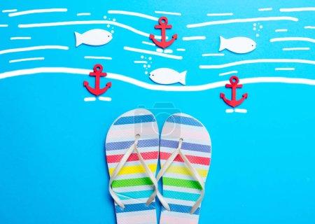 Havaian flip-flops and anchors