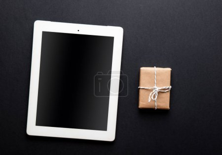 tablet pc and gift box