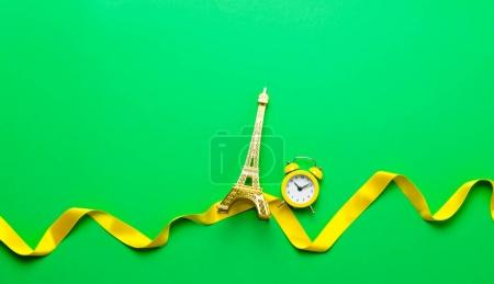 Eiffel tower souvenir and clock
