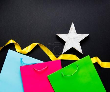 shopping bags with star