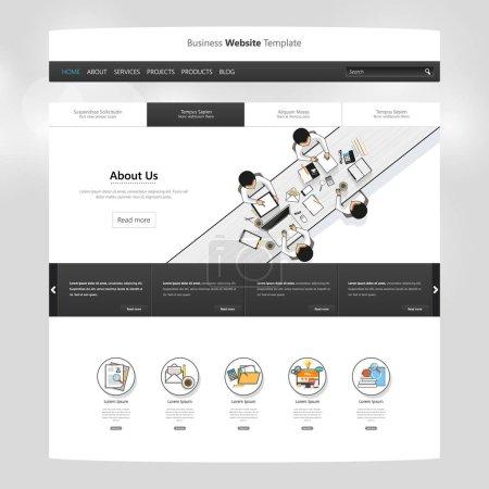 Modern Website template design