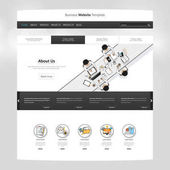 Modern One page Website template design -vector