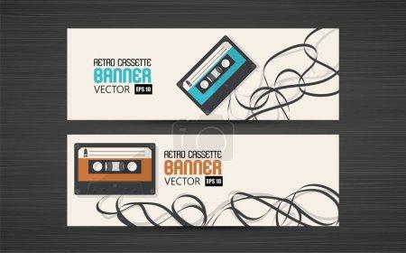 Retro Cassette banners