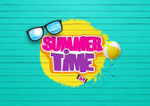 Summer Time Typography design