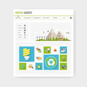 Eco Business One page website design template Vector Design