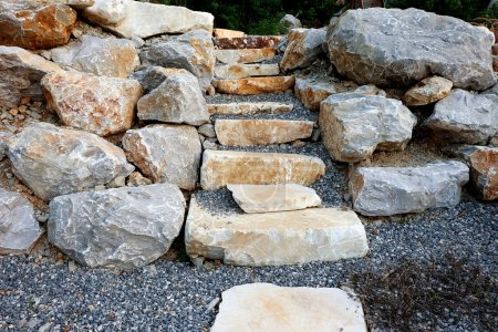 Stairs made of natural stone