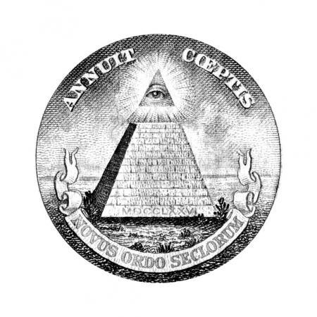 Photo pour Eye of Providence sur un billet d'un dollar américain - image libre de droit