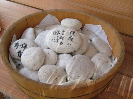 wishing stones in shrine