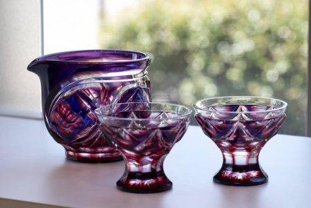 Glass production showpiece