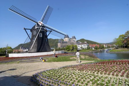 Decorative windmill in nagasaki