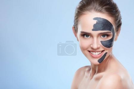 Beauty woman with mask