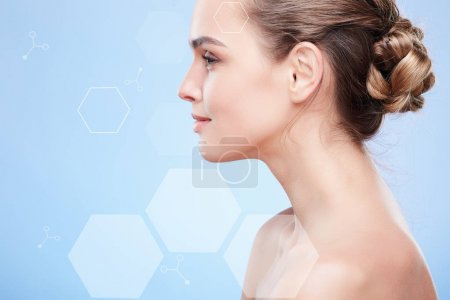 Profile of girl with natural make-up