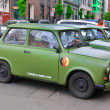 BERLIN, GERMANY - MAY 22: Famous Trabant car in fr...