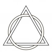 circle weave triangle tattoo