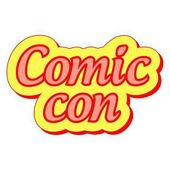 Comic Con international annual festival vector sticker label Comic Con festival