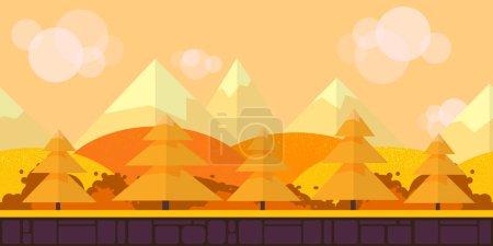 Photo pour Jeu Seamless Horizontal Forest Arrière-plan pour défilement latéral jeux 2D, action, aventure, pirater et slash pour PC, applications mobiles et navigateurs - image libre de droit