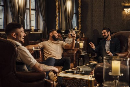 Men Enjoying Drinks