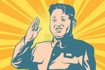 Illustration for Kim Jong-un the leader of North Korea. Politics and famous people. style pop art illustration - Royalty Free Image