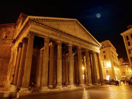 Pantheon facade by night Rome