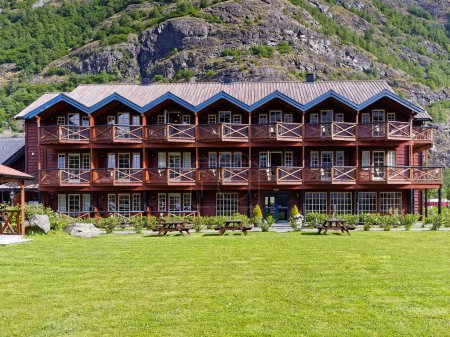 Wooden Building view Flam Norway