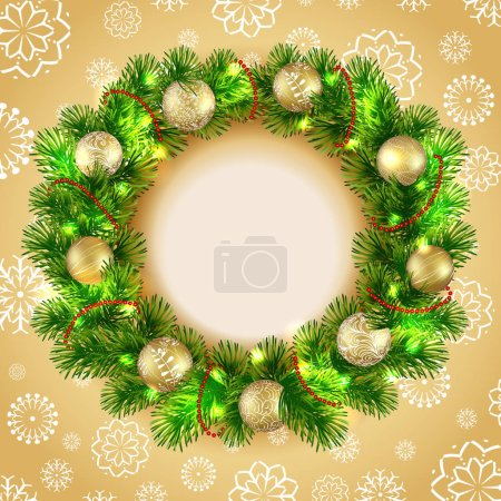 Christmas wreath with balls