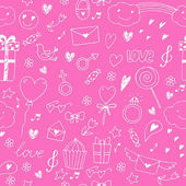 Seamless vector pattern with hand drawn doodles