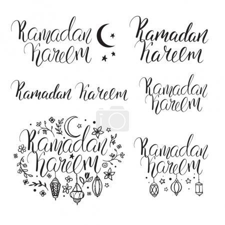 Set inscriptions Ramadan Kareem