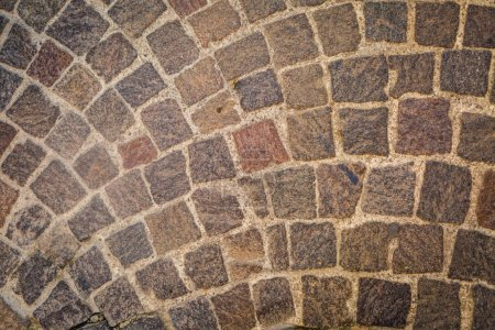 Rustic stone paving, top view