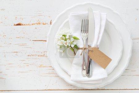 Photo pour Tableau de fleurs blanches, espace copie du printemps - image libre de droit