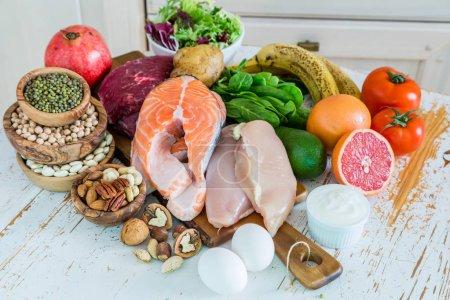 Auswahl von Lebensmitteln zur Gewichtsabnahme