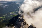 Amazing mountain views from Zugspitze, Germany