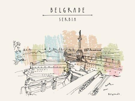 Kalemegdan Fortress in Belgrade, Serbia