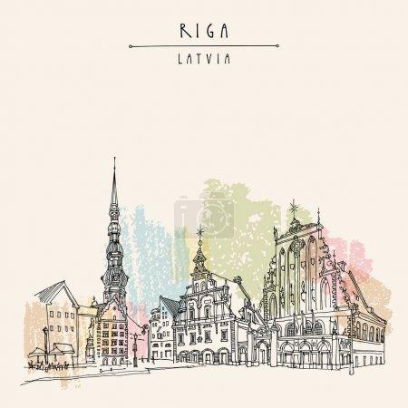 Old town square, Riga, Latvia
