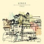 Genoa city view Liguria Italy