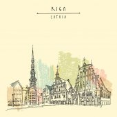 Old town square Riga Latvia