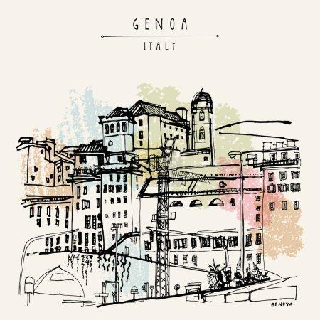 Genoa city view, Liguria, Italy