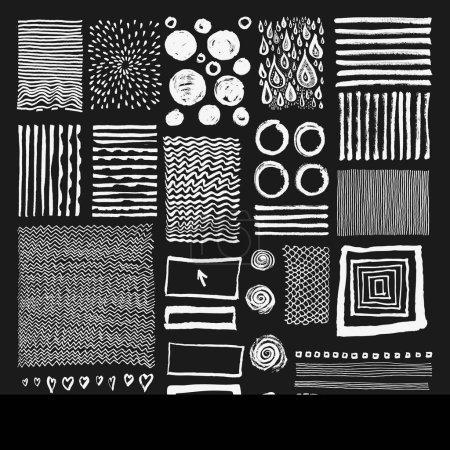 Photo pour Ensemble vectoriel de textures dessinées à la main, Eléments dessinés à la main - image libre de droit