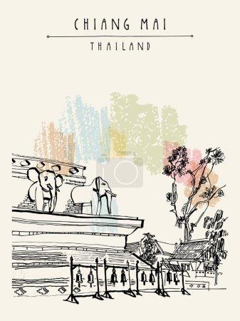 Chiang Mai Thailand postcard
