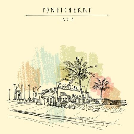 Pondicherry quay South India