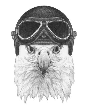 Eagle with Vintage Helmet.